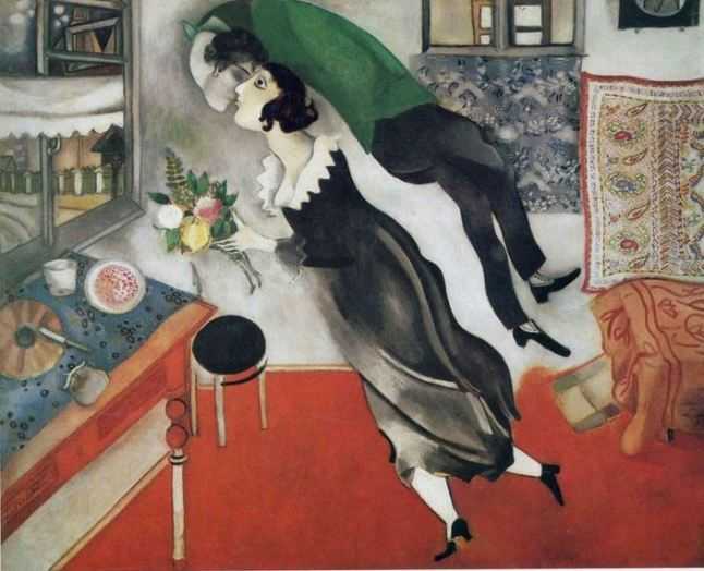 IL-BACIO-Marc-Chagall-The-Birthday-1915